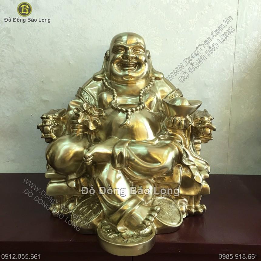 Tượng Phật Di Lặc Ngồi Ngai 42cm