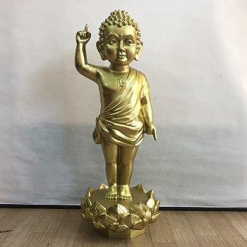 Tượng Thích Ca Đản Sinh Đồng Katut 81cm