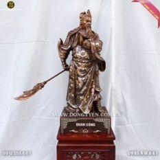 Tượng Quan Công 69cm Khảm Tam Khí Trấn Trạch cho công ty
