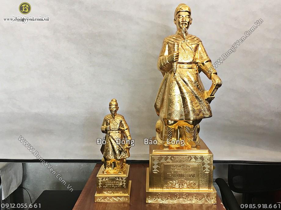 tượng trần hưng đạo cao 81cm dát vàng