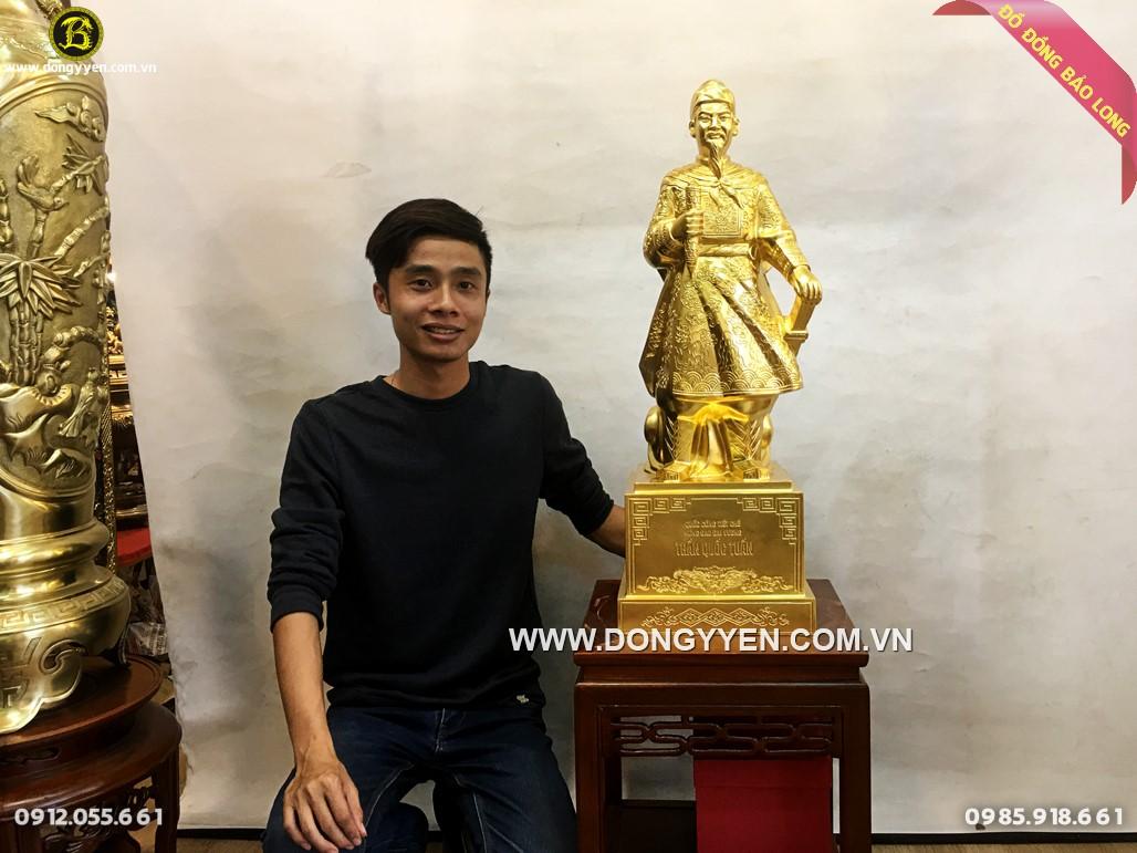 tượng hưng đạo trần quốc tuấn dát vàng hàng đẹp