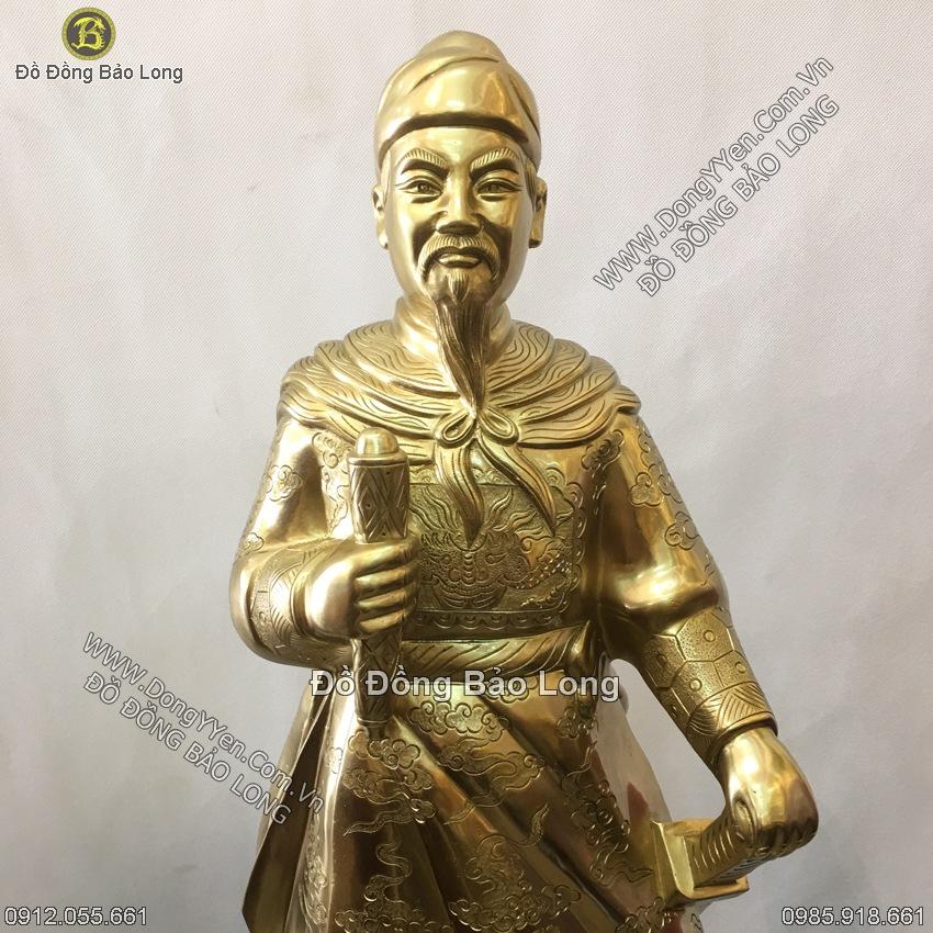 Tượng Trần Hưng Đạo Bằng Đồng Cát Tút Cao 89cm