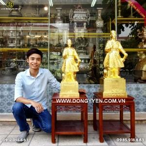 Tượng Trần Hưng Đạo - Trần Quốc Tuấn Dát Vàng 9999