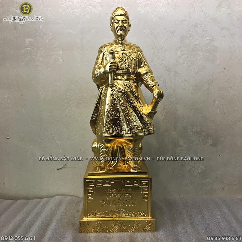 Tượng Trần Quốc Tuấn 48cm Dát Vàng