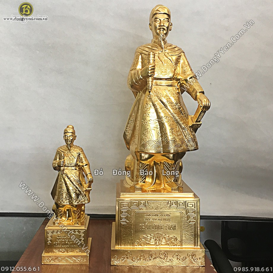 Tượng Trần Quốc Tuấn 81cm Dát Vàng 9999
