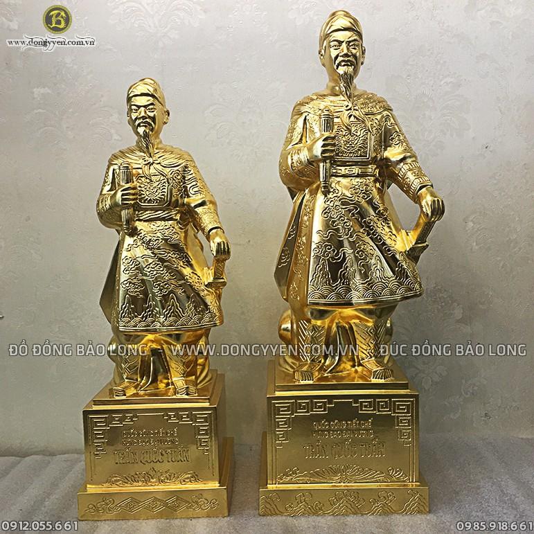 Tượng Trần Quốc Tuấn Dát Vàng 61cm