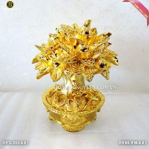 Cây Tiền Tài Lộc Bằng Đồng mạ vàng 24k 23cm cực đẹp