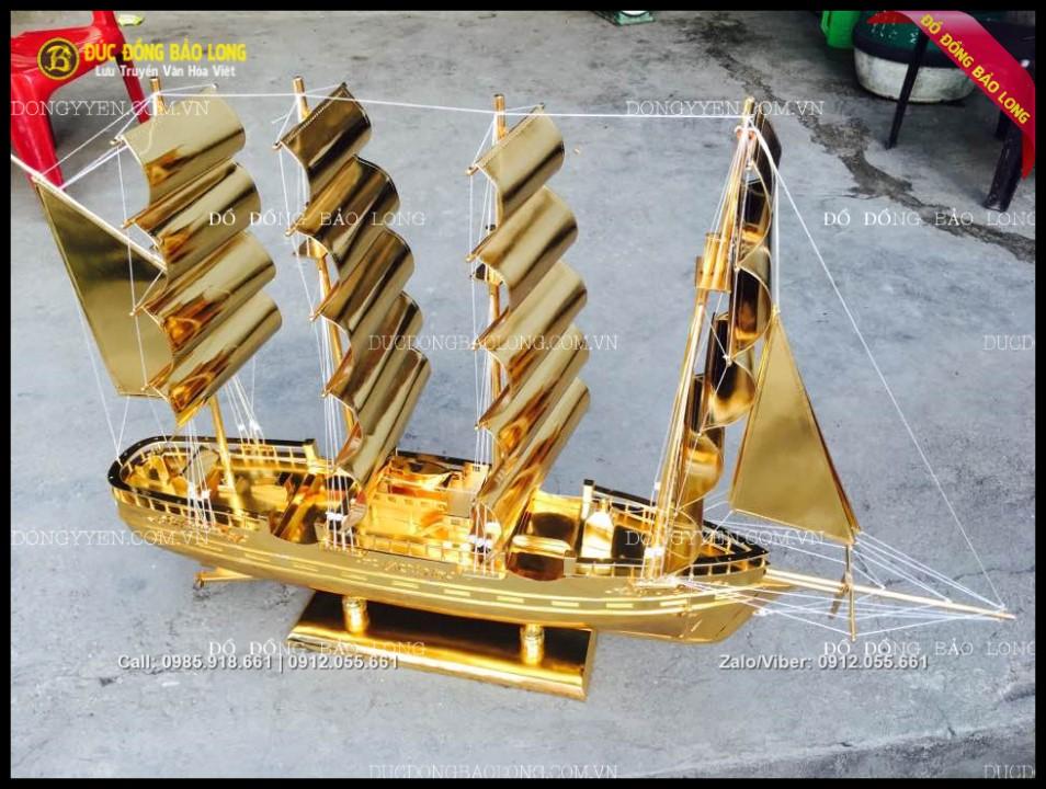 mô hình thuyền buồm bằng đồng