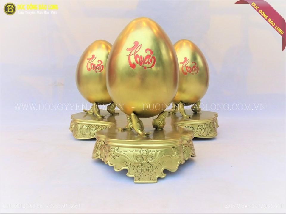 kệ trứng bằng đồng phong thủy