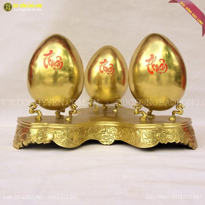 Kệ Trứng Phong Thủy Bằng Đồng Catut