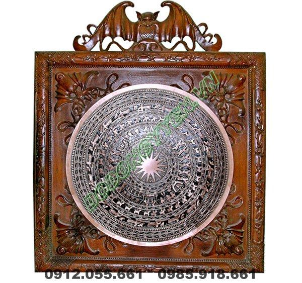 Mặt Trồng Đồng Đúc 60cm khung gỗ