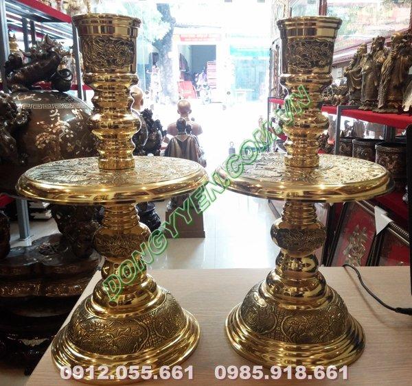 Nến thờ cúng bằng đồng vàng Đài Loan