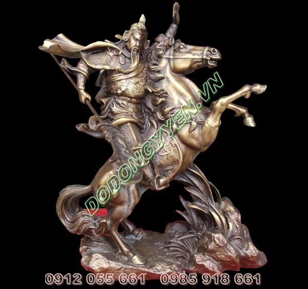 Tượng Quan Vân trường cưỡi ngựa - Tượng quan công cưỡi ngựa